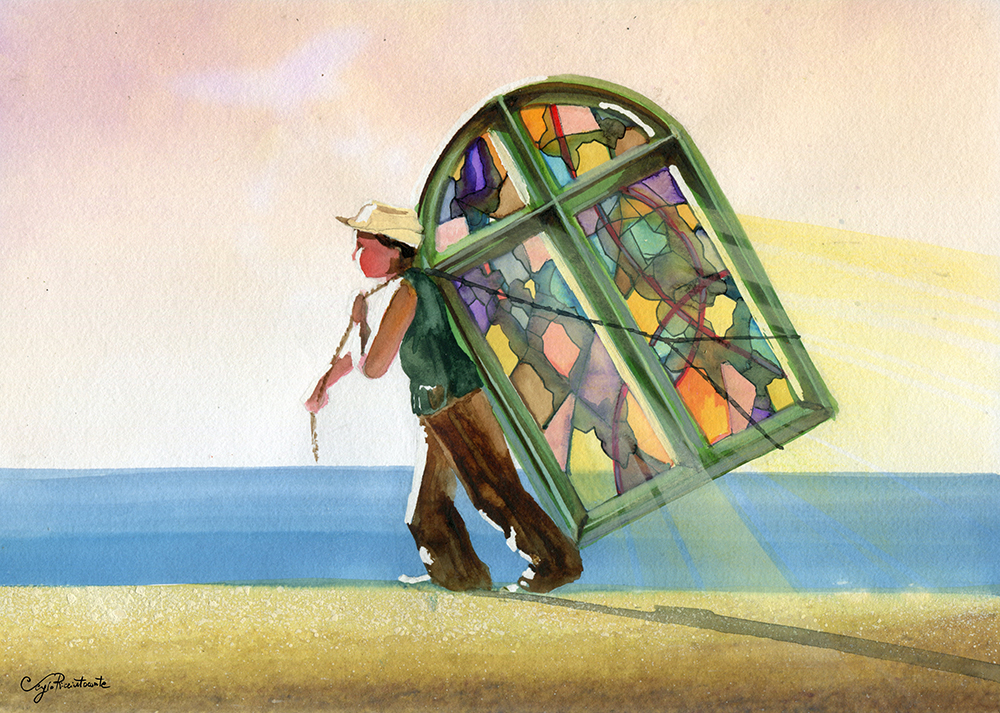 O Carregador, 2014 | Aquarela sobre papel | 29.5 x 21 cm |R$ 1000