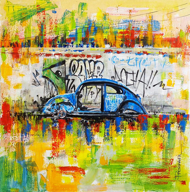 The Other Side - Beetle, 2018 | Acrilica sobre tela | 60 x 60 cm |  R$ 1,350