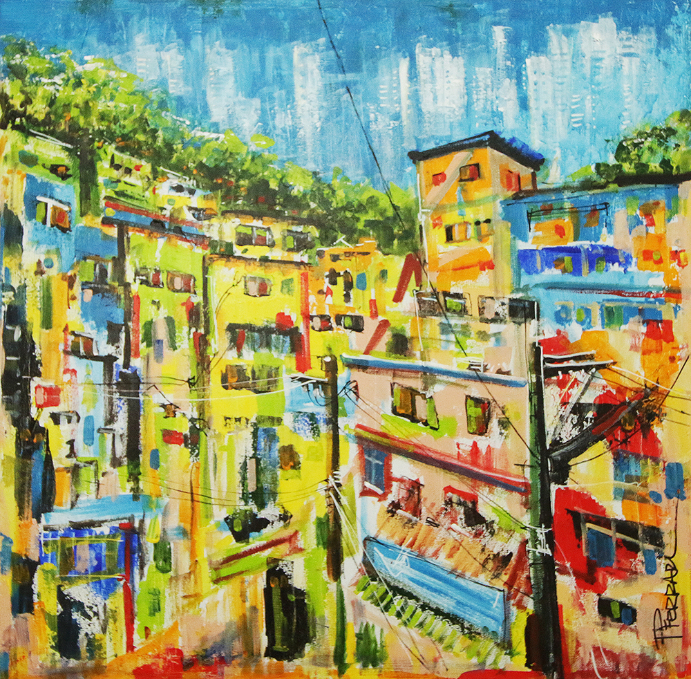 The Other Side - Community, 2018 | Acrilica sobre tela | 70 x 70 cm |R$ 1.450