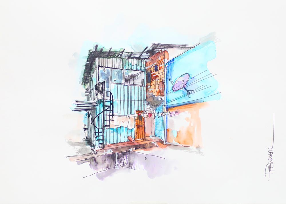 The Other Side - Home, 2018 | Aquarela sobre papel | 42 x 30 cm | R$ 650