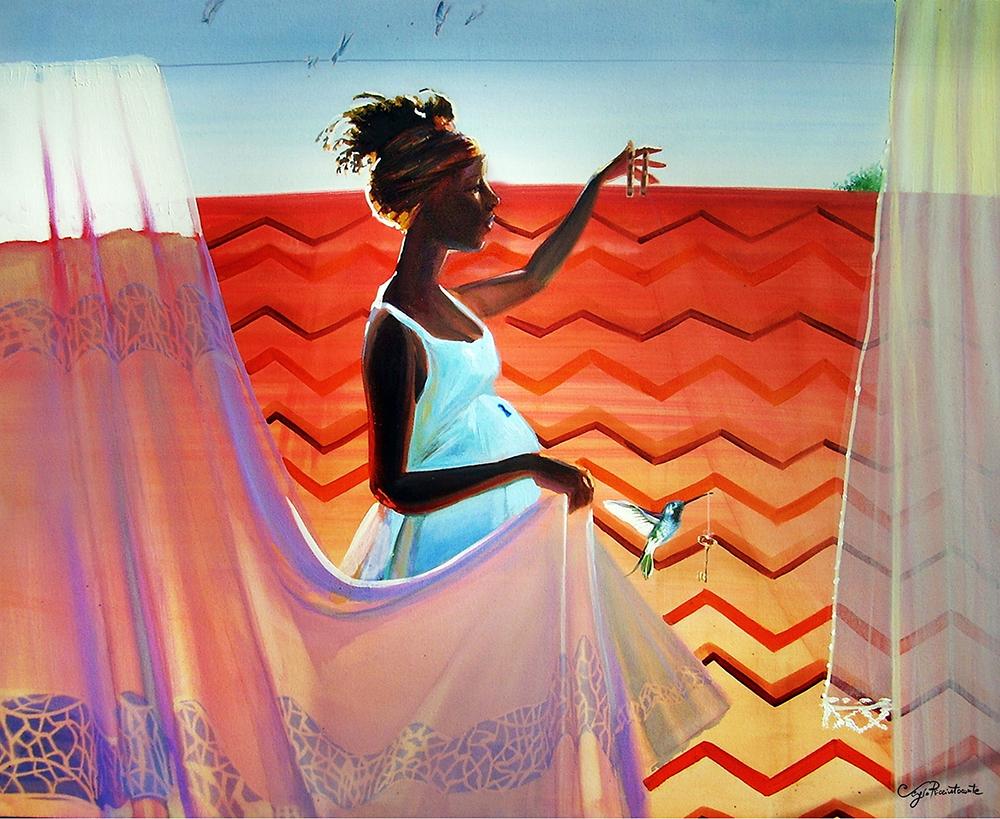 Momento Leve, 2015 |100 x 80 cm |Acrílico sobre tela | R$ 5,000