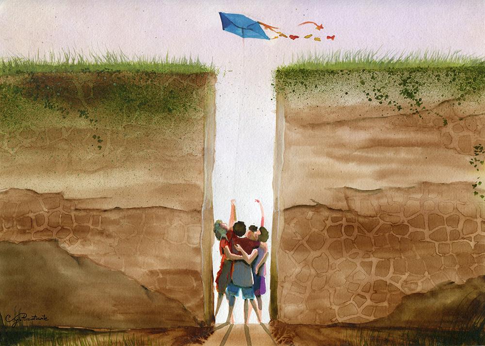 Liberdade Escondida, 2014 | Aqualera sobre papel |29,5 x 21 cm |  R$ 900