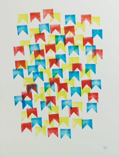 1, 2018 |Tinta de carimbo sobre papel |52 x 70 cm | R$ 750