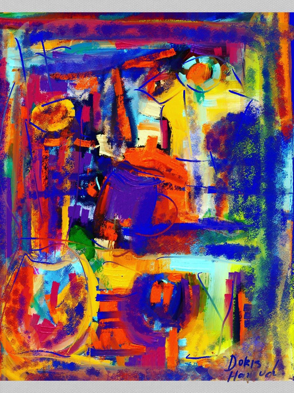 Abstrato Figurativo Vasos, 2018 | Arte digital | 40 x 50 cm | R$ 500
