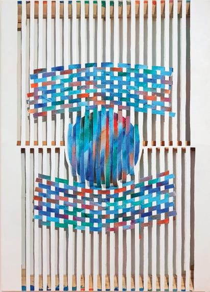Experimento_09_(Pintura a duas vozes),2018 | Tela | 50 x 70 cm |  R$ 1,300