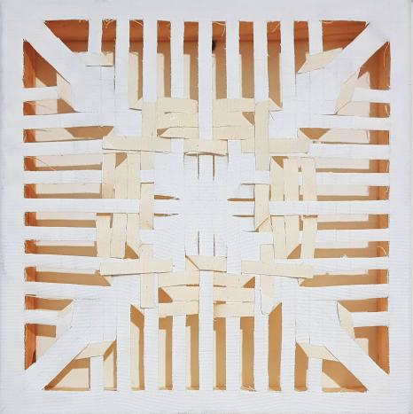Experimento_03_(Simetria e costura),2018 | Tela | 30 x 30 cm |  R$ 700