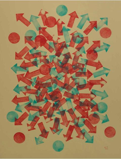 37, 2016 |Tinta de carimbo sobre papel | 52 x 70 cm R$ 750