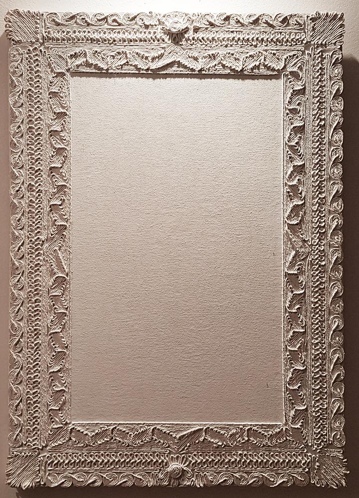 Limits, 2014 |Fabric, white glue, string |50 x 70 cm