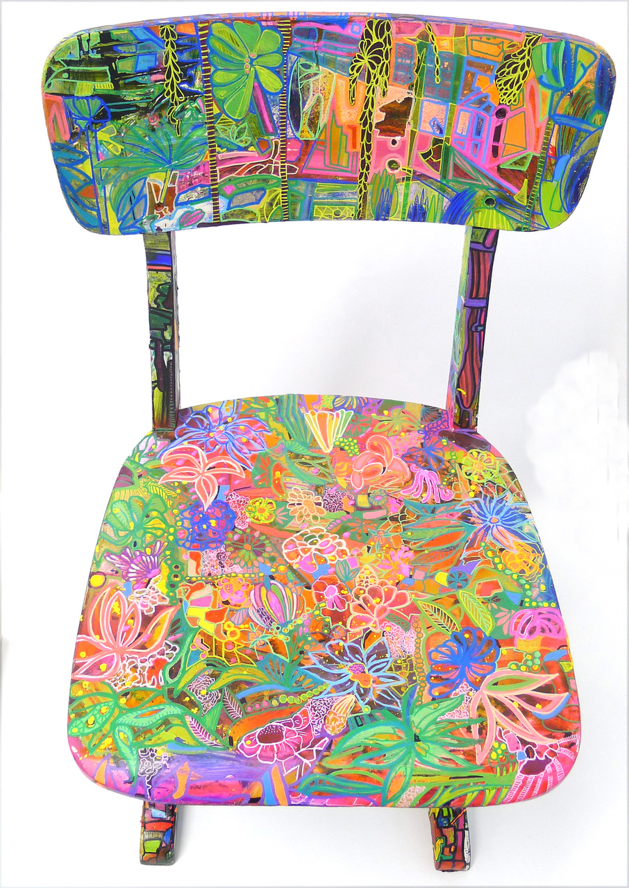 THE chair, 2018 | Mixed media on wooden chair | £500