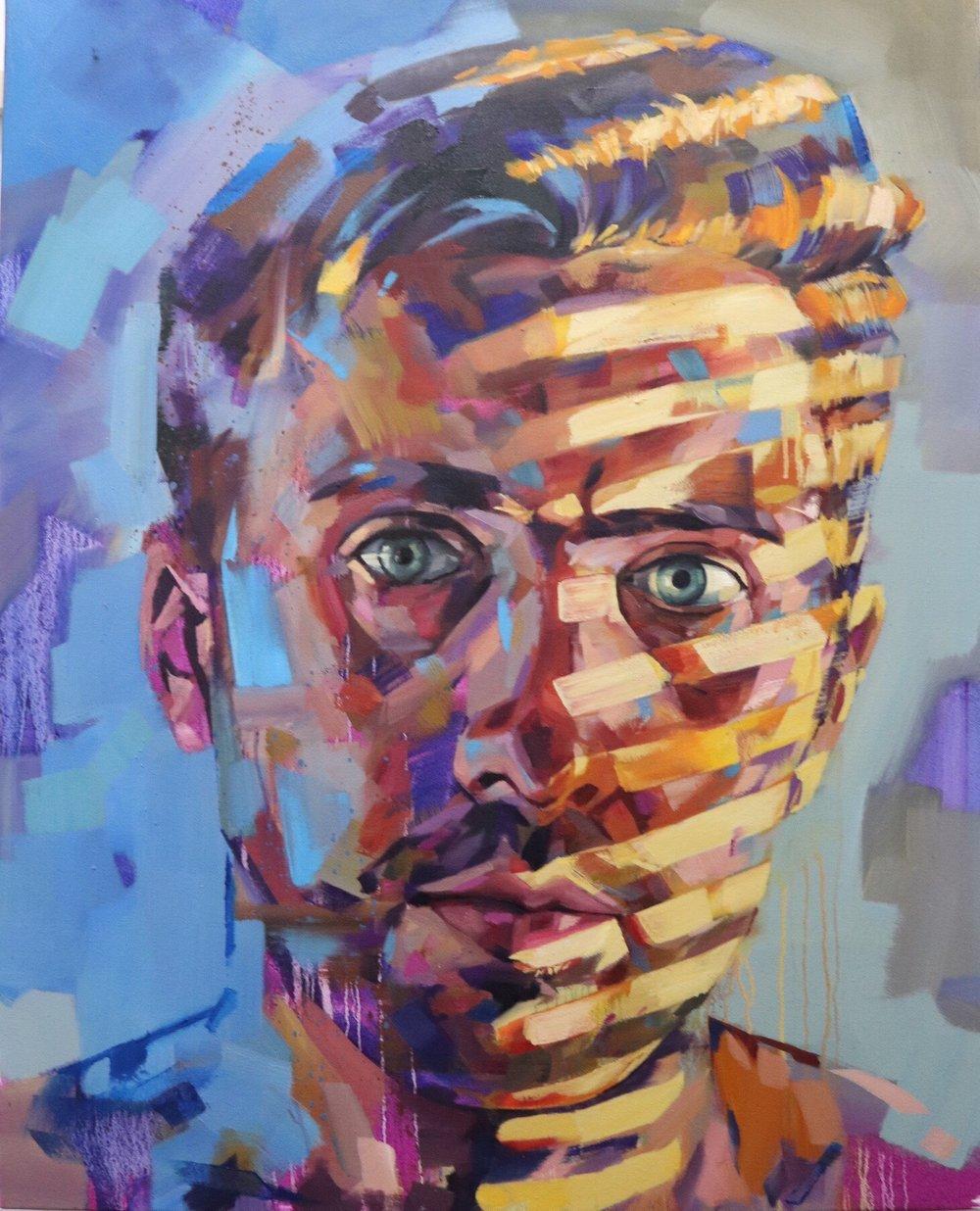 Hollow Stare,2018. 0il on canvas. 80 x 100 cm.jpeg