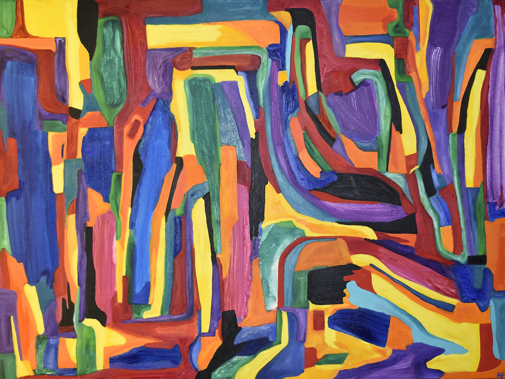 Flowing Melody, 2018. Oil and acrylic on canvas. 91.4 x 121.9 cm. £2400.jpg