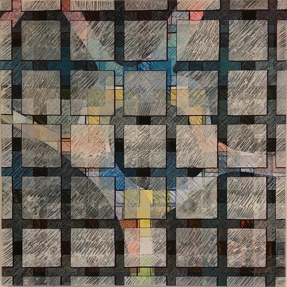 Elephant & Castle, 2018. Mixed Media on Canvas. 80cm x 80cm, Framed. £750.jpg