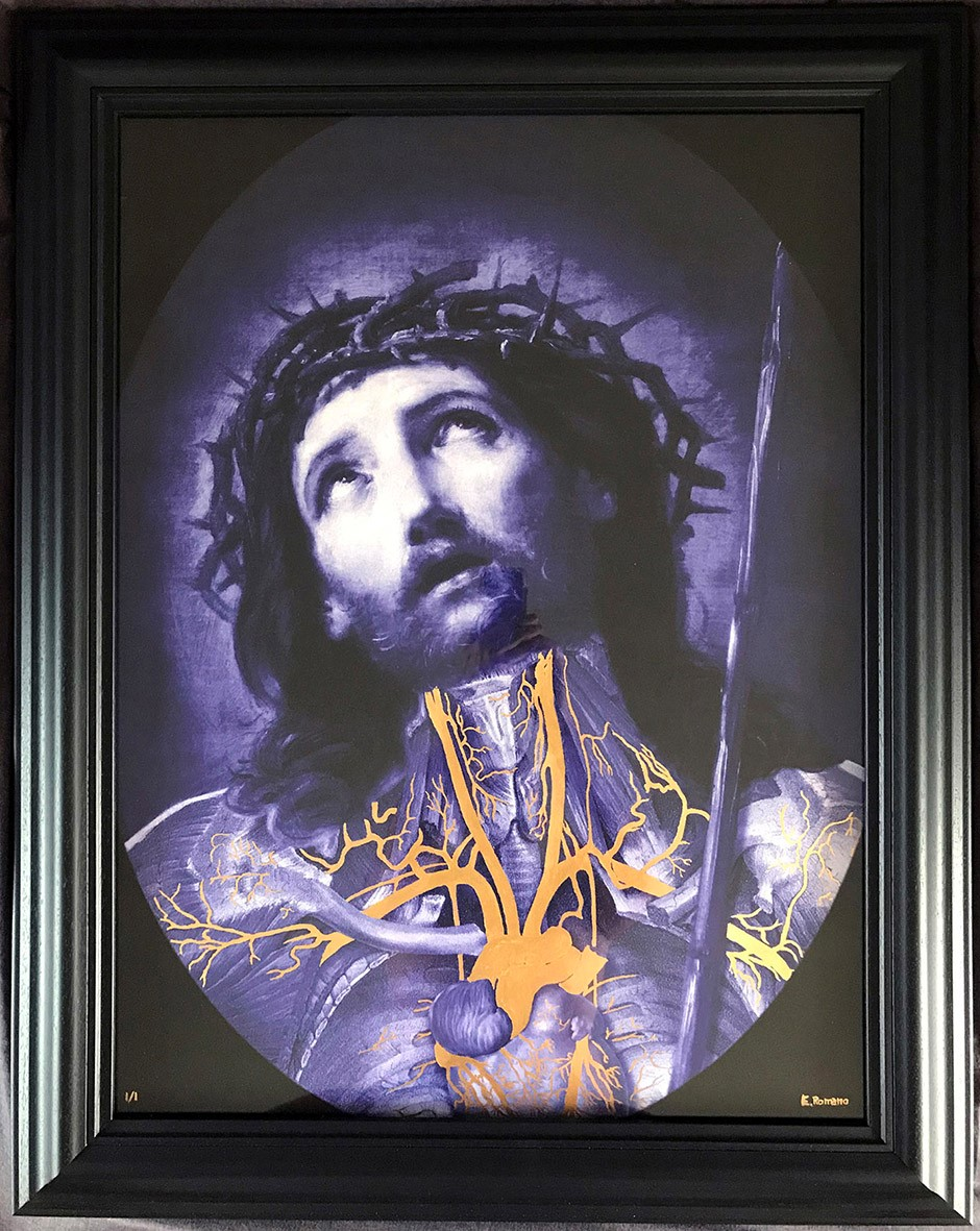 Ecce Homo, 2018 | Giclee print with 24k gold leaf unique edition | 80 x 60 cm | £800