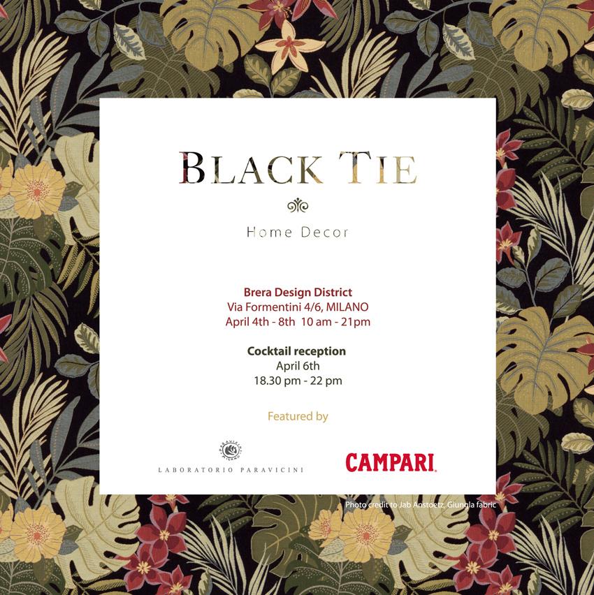 BLACK TIE   www.blacktiesofas.it   FUORISALONE 3-8 апреля с 18:00 до 21:00 Via Formentini 4/6