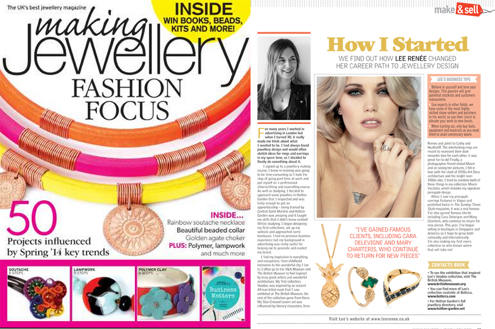 Making Jewellery Magazine - December 2014