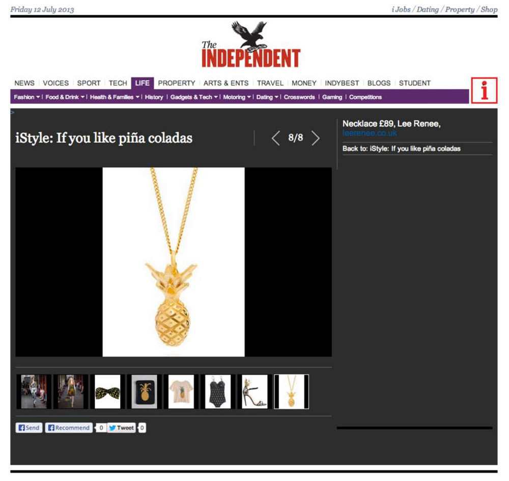 The Independent iStyle - July 2013