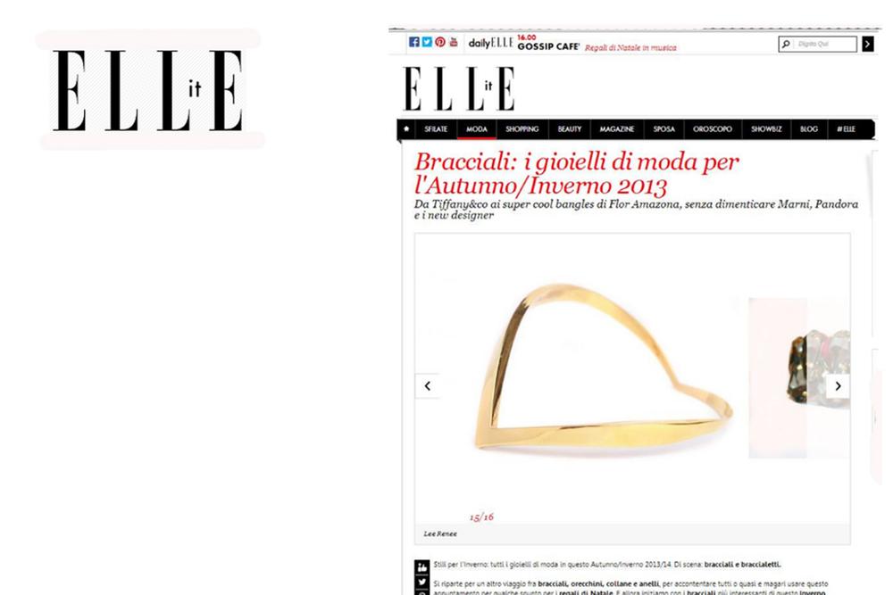 Elle Italy.com - November 2013
