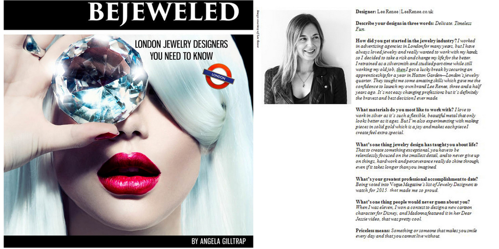 Bejeweled: London Jewelry Designers you need to know - April 2016