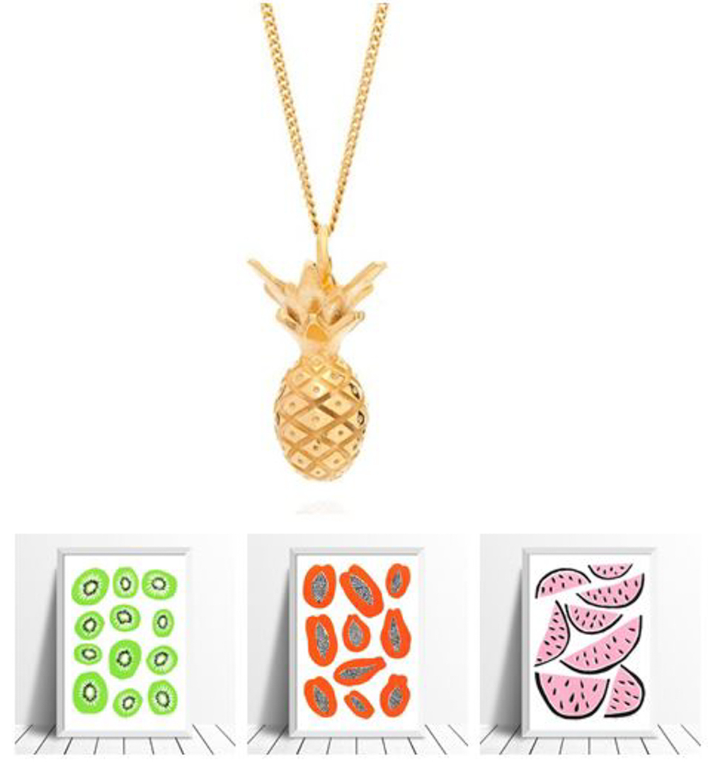 Pineapple necklace Lee Renee