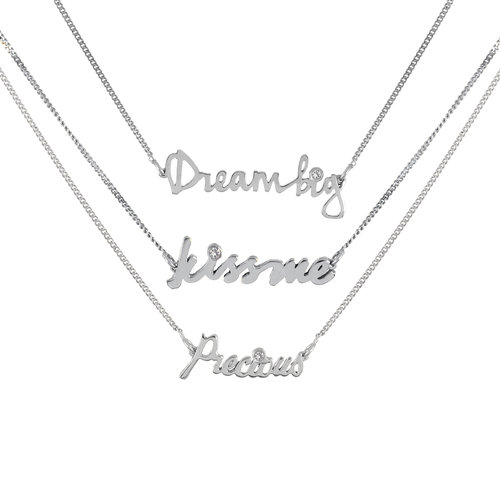 en best xl set sparkle friend shine necklace word