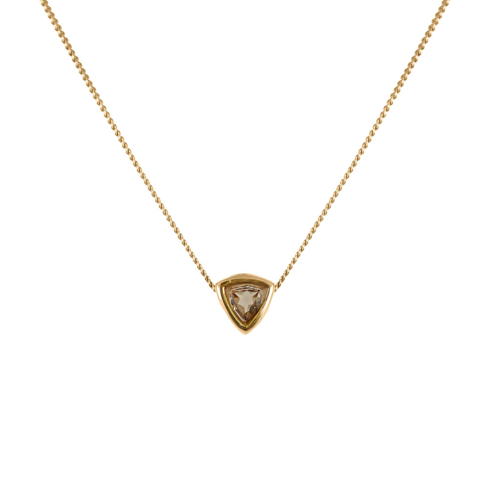 Lee Renee smoky quartz trillion necklace