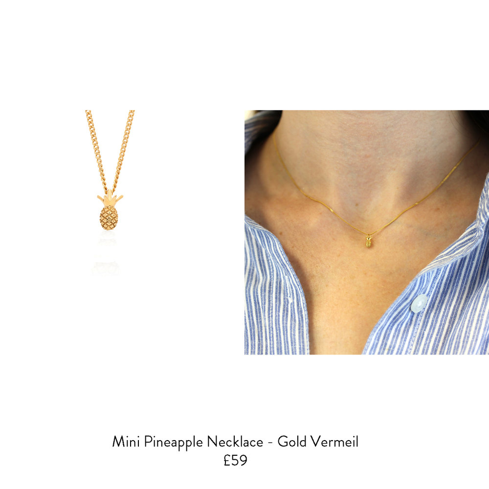 16th birthday gift ideas for her gold pineapple necklace