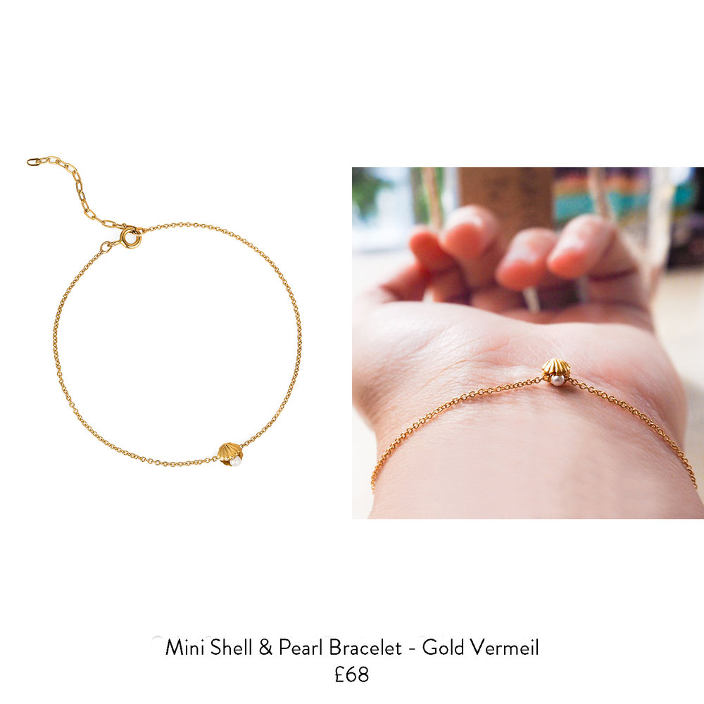 21st birthday gift ideas for her shell and pearl gold bracelet