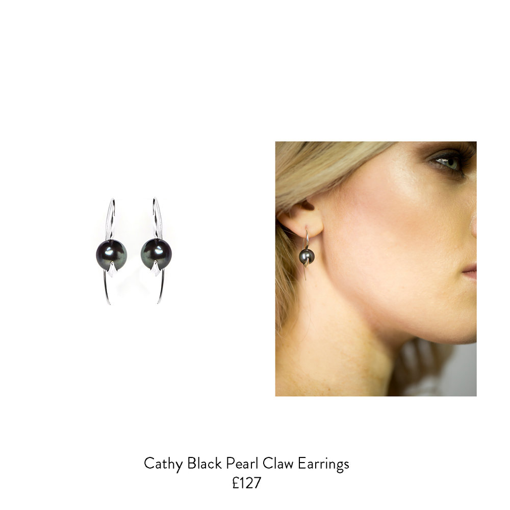 50th birthday gift ideas for her black pearl earrings