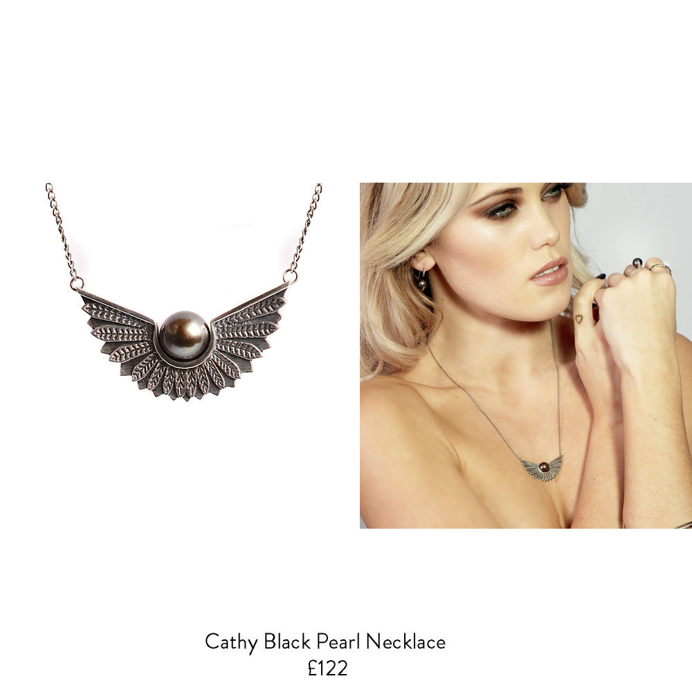 70th birthday gift ideas for her black pearl necklace