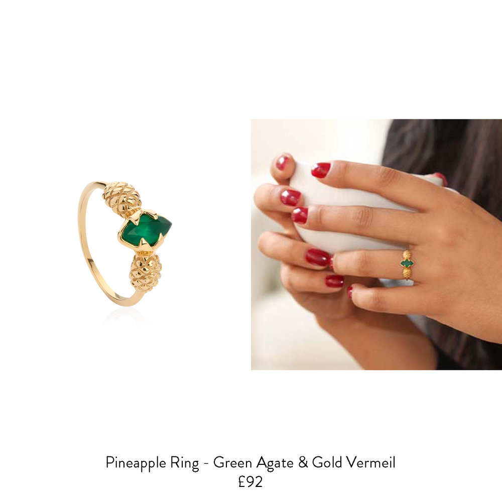 graduation gift ideas for her gold pineapple ring