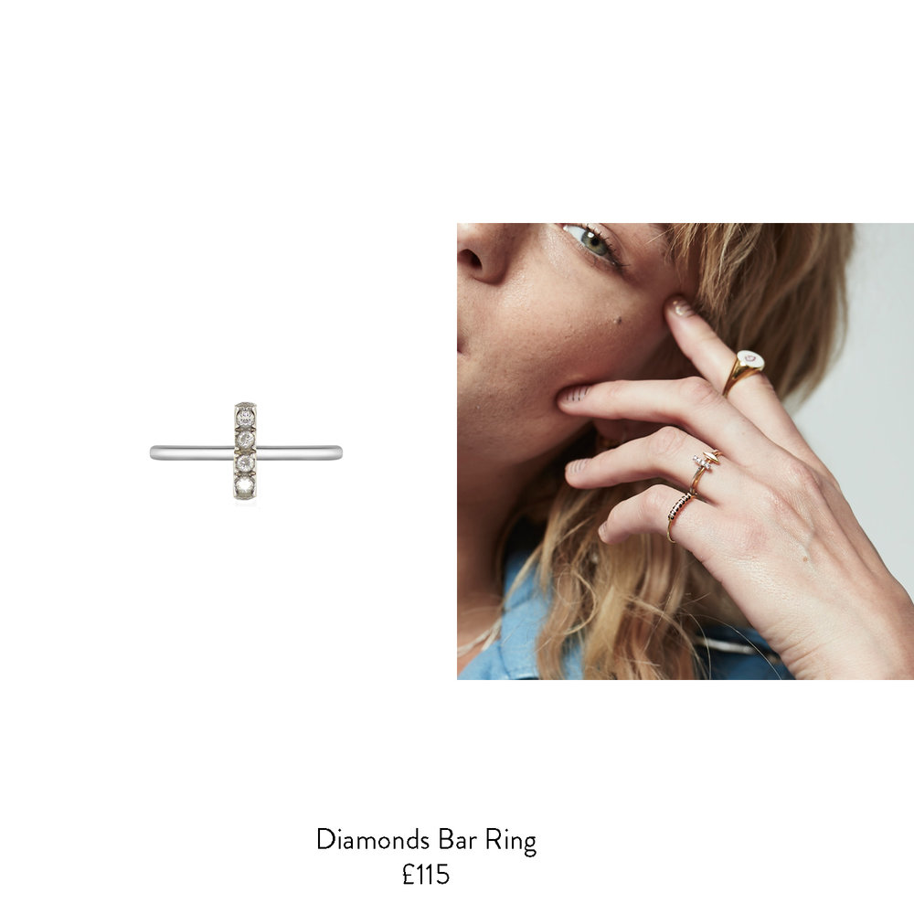 april brithstone gift dieas for her diamond bar ring