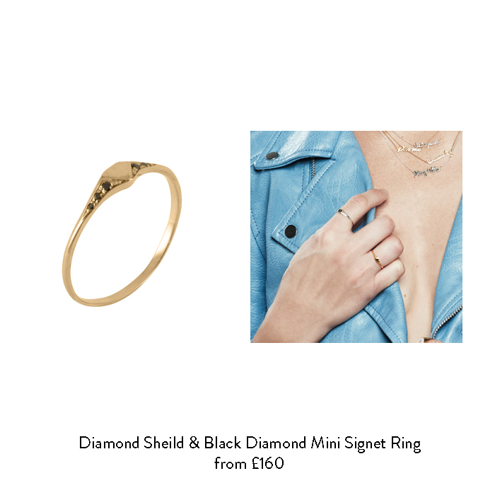 april birthstone gift ideas for her black diamond signet ring