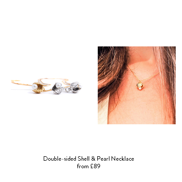 june birthstone gift ideas for her pearl shell necklace