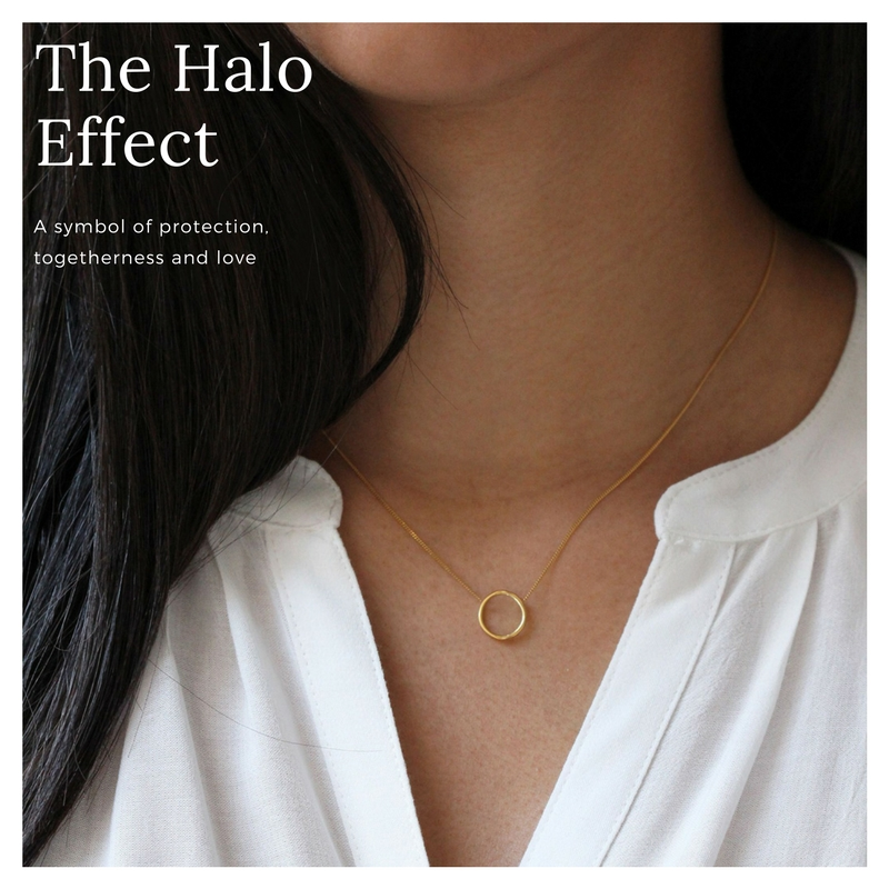 This delicate Halo necklace is simple, elegant and great for everyday styling - from £40