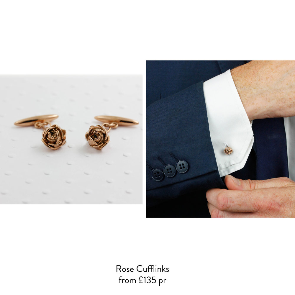 rose cufflinks