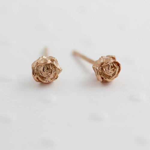 d66c52b63 Tiny Rose Stud Earrings - Gold/Silver/Rose Gold — Lee Renee