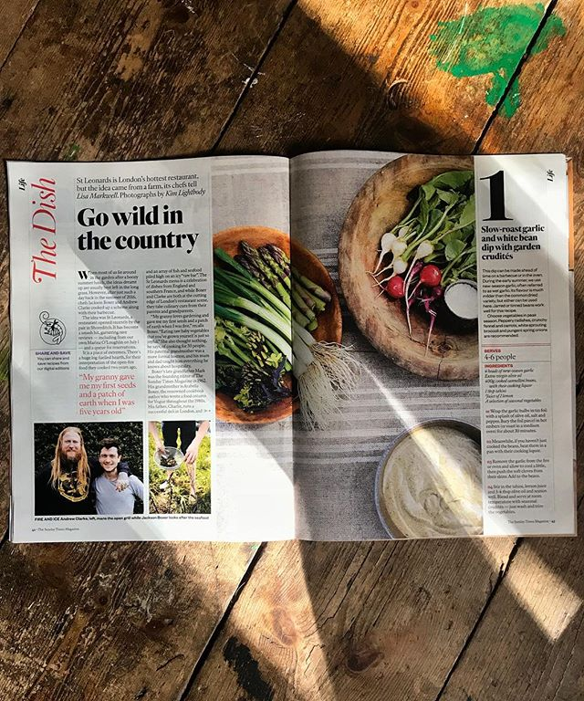 Thank you @sundaytimesfood for letting me and @fleurdelysldn drag you down to #PoundFarm, to @lamarkwell for writing so charmingly and giving us so many pages, to @kim.lightbody_photography for the beautiful images, and my glorious Ma for getting us all plastered. Obviously the family connection to the mag makes this all the more pleasing for me, so thanks to Mark Boxer too, without whom the Sunday Times Magazine would not even be a thing. Cheers Grandpa.