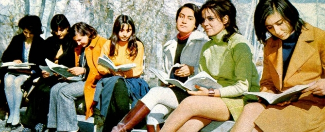 Iranian university students in 1971 Souce Vintage.es
