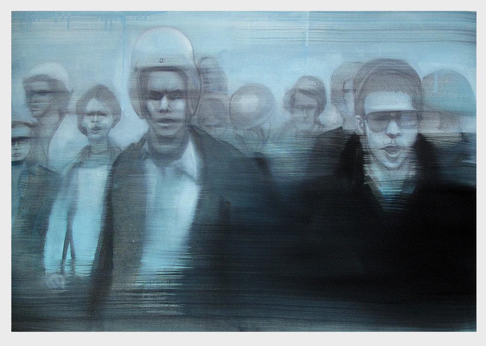 The Boy With The Thorn In His Side, 2016, 100 x 70 cm, Graphit und Öl auf Papier, CHF 1'400.–