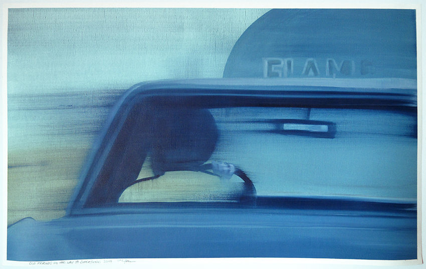 Old Friends On The Way To Supersonic 2, 2014, 90 x 65 cm, Öl auf Papier, CHF 2400.–