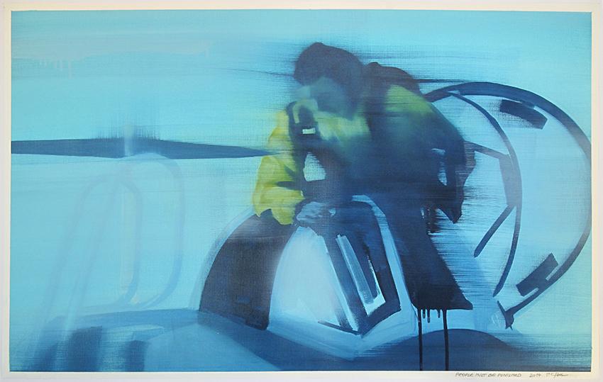 People Must Be Punished, 2014, 90 x 65 cm, Öl auf Papier, CHF 890.–