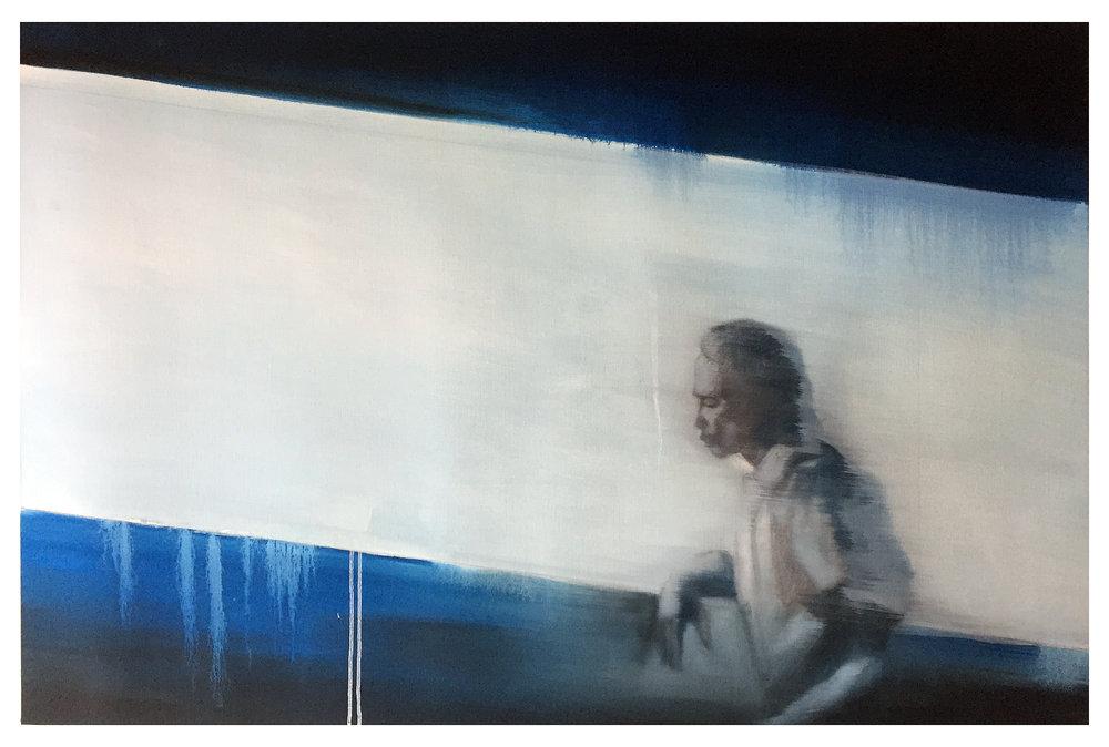 Wie Wir Leben Wolln, 2017, 100 x 70 cm, Graphit und Öl auf Papier, CHF 2'800.–