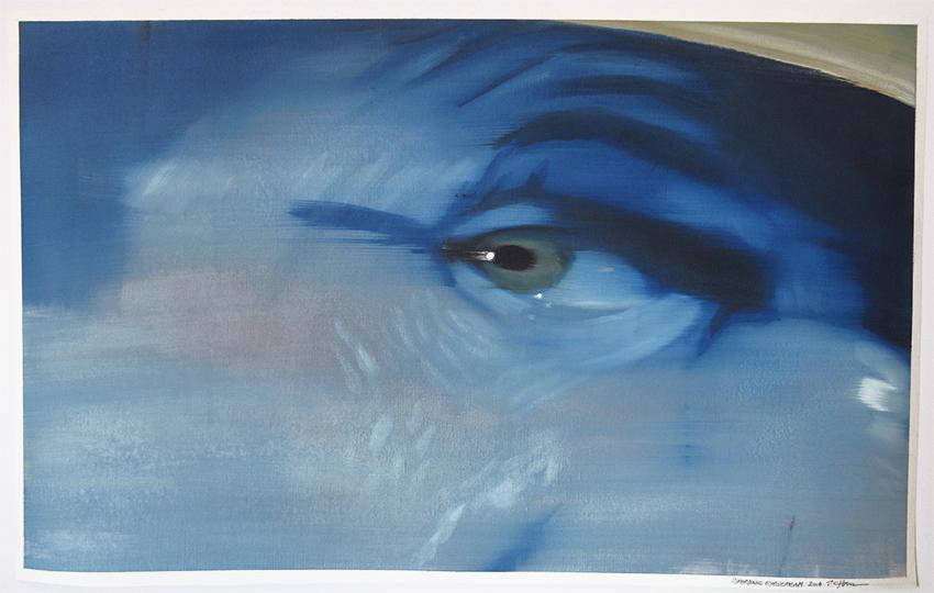 Supersonic Eyescream, 2014, 90 x 65 cm, Öl auf Papier, CHF 2'400.–