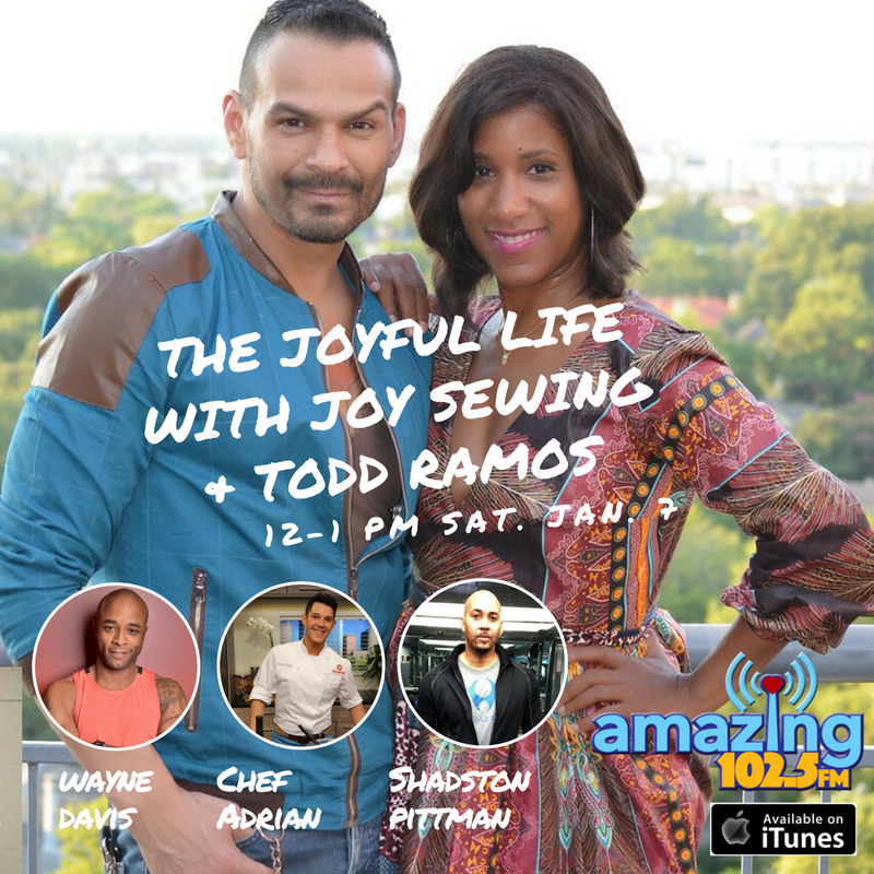 Part of my #YearOfJoy means pushing myself to live more, love more and definitely do things out of my comfort zone. Well, this weekend will be a big one for me. I'll be back on radio after a hundred years. It's called The Joyful Life With Joy Sewing and Todd Ramos on Amazing 102.5 FM, and I'll be joined by my cohost fashion guy Todd Ramos. We'll talk fashion, fitness, travel, food and all things that bring us joy. It airs noon-1 p.m. every Saturday starting THIS weekend. It's a great way to kick off fashion week. But I admit I was scared when the station GM Emilian V White approached me with the idea way back in January. (I'm a true Capricorn so it takes us a while to commit but when we do, we're all in.) His wife Emmy-award winning #SteveHarvey producer, Kim Gagne, has graciously held my hand. So Saturday, we go live! Please like our FB page and let me know if you have any segments or guest ideas or interested in sponsorship. The non-profit radio station benefits the Bread of Life at St. John's Downtown with Pastor Rudy Rasmus. Download the FREE app to listen online. (The format is R&B and some Pop, even Prince!) https://www.facebook.com/The-Joyful-Life-With-Joy-Sewing-…/… #yearofjoy (Thank you Onyii Brown Onyii & Co. for letting me play in your dress.)
