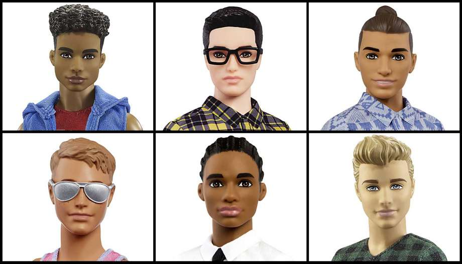 "Ken was in a rut.  While Barbie had a makeover last year and emerged with a variety of skin tones and body types, Ken remained pretty much the buff boyfriend with the plastic side part that hit the scene in 1961.  Until this week. Mattel unveiled a new Ken doll in 15 different styles - seven skin tones, three body shapes and a variety of hair styles.  There's Ken with a man bun, Ken with cornrows, Ken with cool glasses, Ken as a bleach-blonde surfer, Ken with olive skin, and even Ken with a hipster pompadour.  He comes in three body shapes: ""original"" (which basically means buff),""slim,"" and ""broad"" (some are calling him dad-bod Ken).   More"