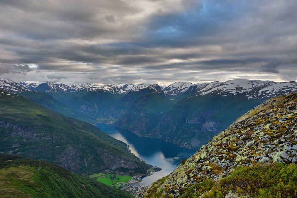 Aurland fjord view Prest