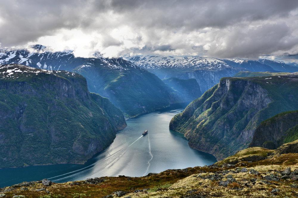 Aurlandsfjord Undredal Nærøyfjord