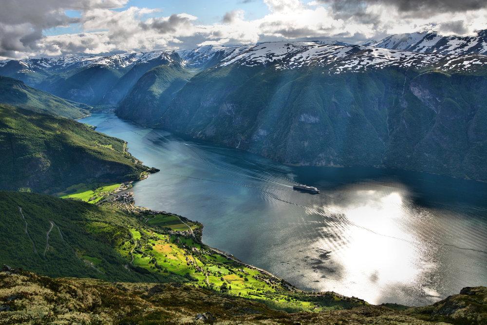 World Heritage fjord landscape Aurland