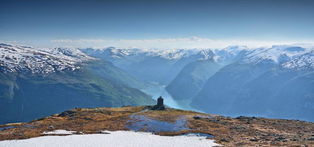Cairn varde Røyrgrind Prest Aurland Aurlandsfjord
