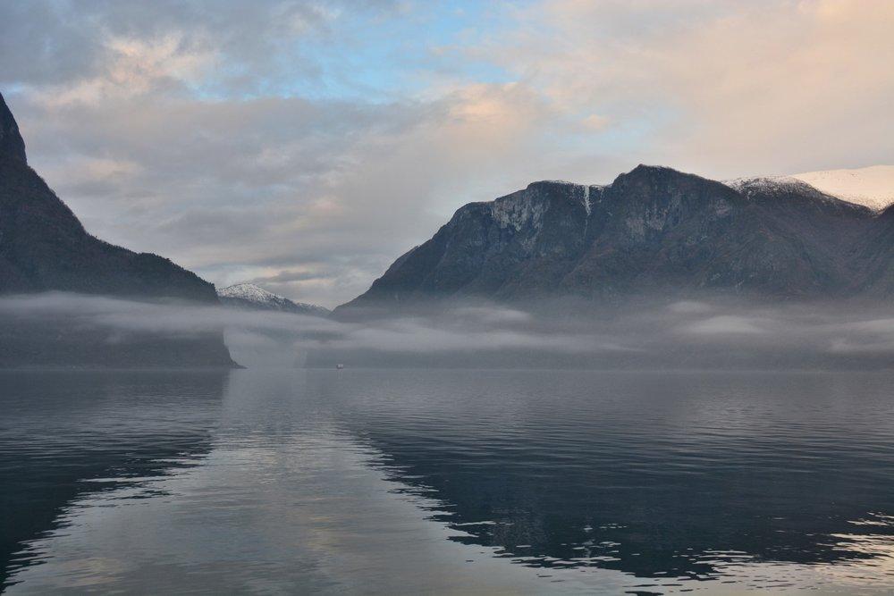 Misty Aurlandsfjord
